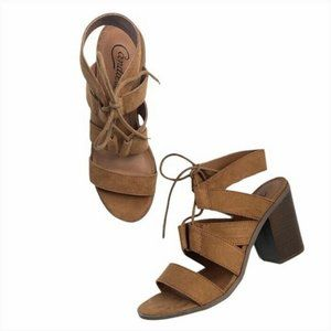 Candies Open Toe Strappy Canova Lace Up Sandals 7